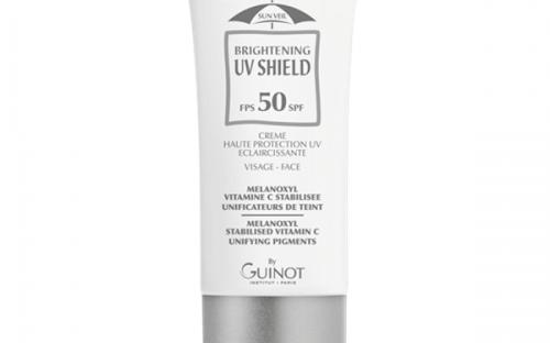 Guinot Newhite Brightening UV Shield SPF50 fényvédő pigmentfoltos bőrre