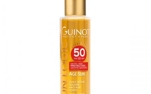Guinot Sun Logic Age Sun Huile Seche Solaire Anti-Age Corps SPF50